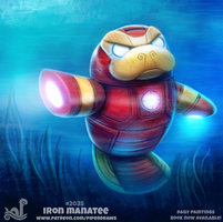 Daily Paint 2035# Iron Manatee