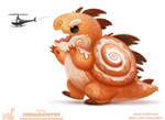 Daily Paint 2036# Cinnamonster