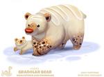 Daily Paint 2043# Granolar Bear