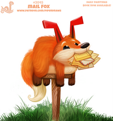 Daily Paint 2045# Mail Fox