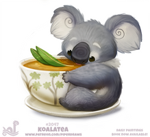 Daily Paint 2047# Koalatea by Cryptid-Creations