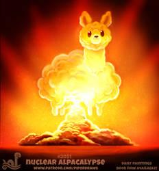 Daily Paint 2051# Nuclear Alpacalypse
