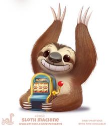 Daily Paint 2052# Sloth Machine
