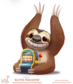 Daily Paint 2052# Sloth Machine