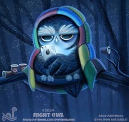 Daily Paint 2054# Night Owl
