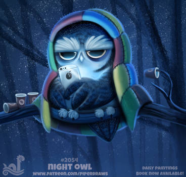 Daily Paint 2054# Night Owl by Cryptid-Creations