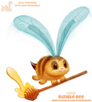 Daily Paint 2056# Bunble Bee by Cryptid-Creations