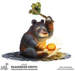 Daily Paint 2057# Blackbear Smith