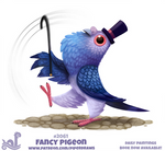 Daily Paint 2061# Fancy Pigeon