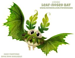 Daily Paint #2066. Leaf-nosed Bat