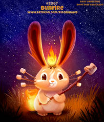 Daily Paint #2067. Bunfire by Cryptid-Creations