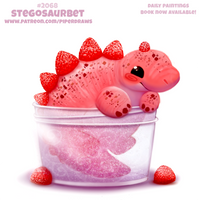 Daily Paint #2068. Stegosaurbet by Cryptid-Creations