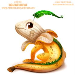 Daily Paint #2073. Iguanana
