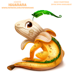 Daily Paint #2073. Iguanana by Cryptid-Creations