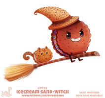 Daily Paint #2078. Icecream Sand-Witch (Updated)