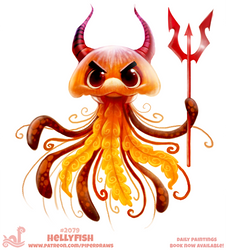 Daily Paint #2079. Hellyfish by Cryptid-Creations