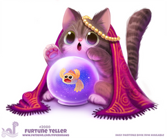 Daily Paint #2080. Furtune Teller