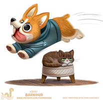 Daily Paint #2081. Barkour by Cryptid-Creations