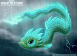 Daily Paint 2085. Eelectric Storm