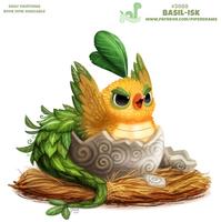 Daily Paint 2088. Basil-isk