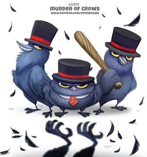 Daily Paint 2092. Murder of Crows