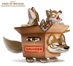 Daily Paint 2093. Pack of Wolves