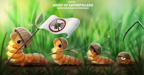 Daily Paint 2097. Army of Caterpillars