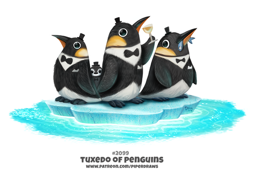 Daily Paint 2099. Tuxedo of Penguins