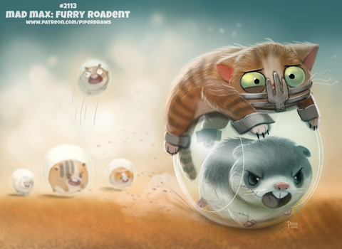 Daily Paint 2113. Mad Max: Furry Roadent