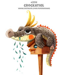 Daily Paint 2114. Crockatiel by Cryptid-Creations