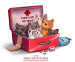 Daily Paint 2116. First Aid Kittens