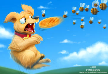 Daily Paint 2118. Frisbees by Cryptid-Creations