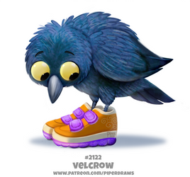 Daily Paint 2122. Velcrow by Cryptid-Creations