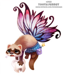 Daily Paint 2123. Tooth Ferret by Cryptid-Creations