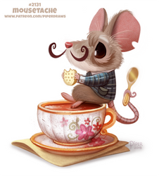 Daily Paint 2131. Mousetache