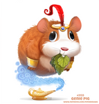 Daily Paint 2133. Genie Pig