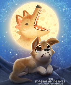 Daily Paint 2134. Forever Alone Wolf