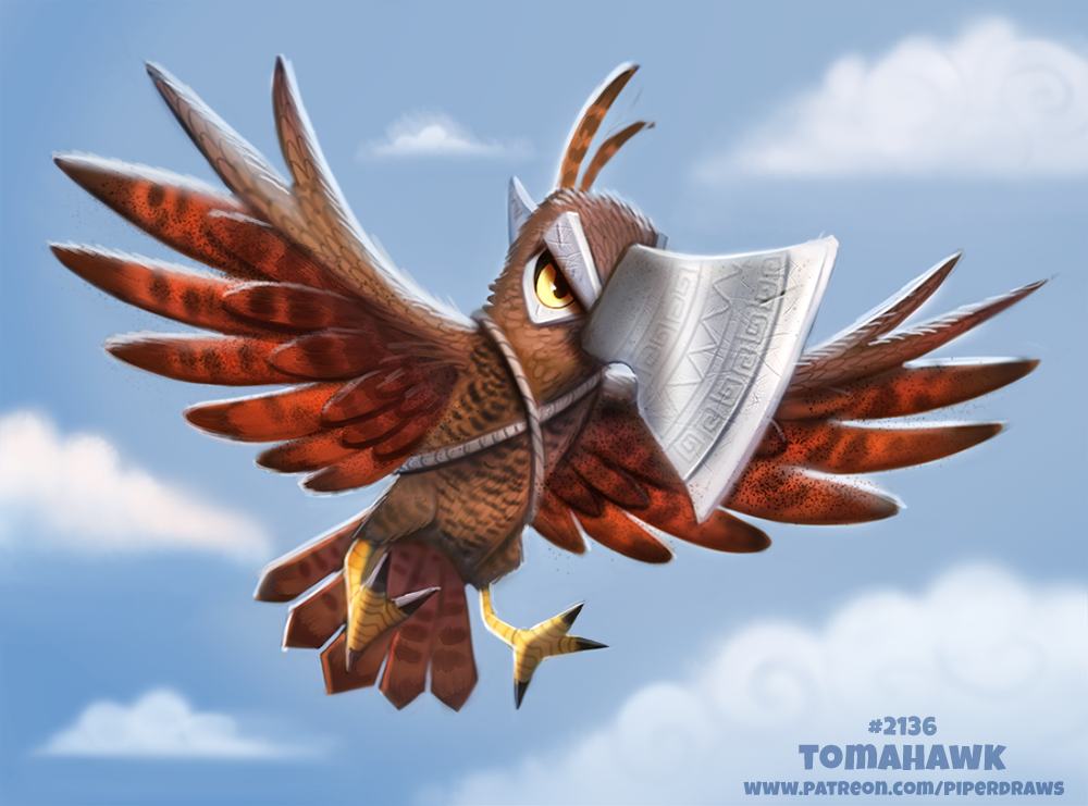 Daily Paint 2136. Tomahawk