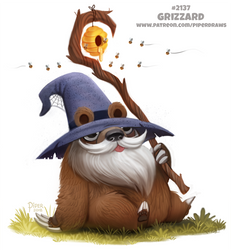 Daily Paint 2137. Grizzard