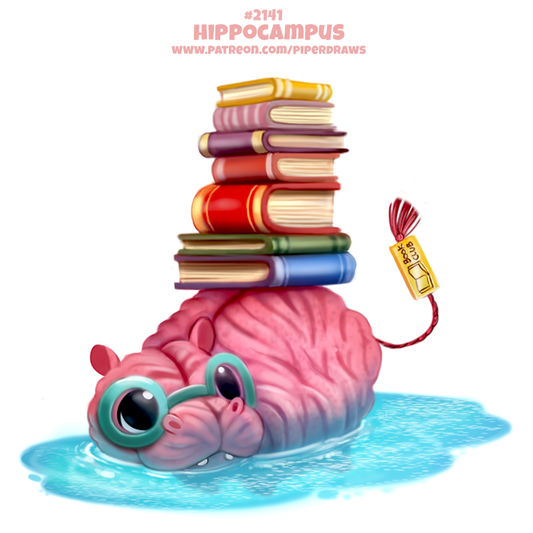 Daily Paint 2141. Hippocampus by Cryptid-Creations