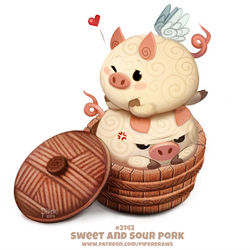 Daily Paint 2142. Sweet and Sour Pork