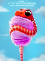 Daily Paint 2143. Cottoncandymouth by Cryptid-Creations