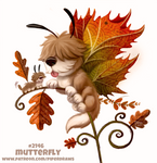 Daily Paint 2146. Mutterfly