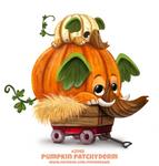 Daily Paint 2148. Pumpkin Patchyderm