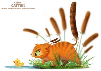 Daily Paint 2149. Cattail