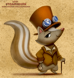 Daily Paint 2151. Steamskunk by Cryptid-Creations