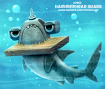 Daily Paint 2152. Hammerhead Shark
