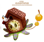 Daily Paint 2156. Clocktopus