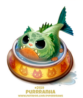 Daily Paint 2159. Purrranha by Cryptid-Creations
