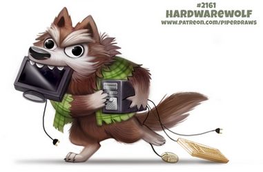 Daily Paint 2161. Hardwarewolf by Cryptid-Creations